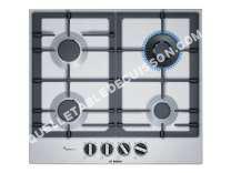 table de cuisson BOSCH Serie 6 PCH6A5B90  Table de cuisson au gaz   plaques de cuisson  Niche  largeur  56 cm  profondeur   cm  acier inoxydable  avec garnitures en acier inoxydable  acier inoxydable