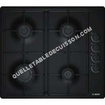 table de cuisson BOSCH B6B6B80 Table cuisson gaz  4 foyers  L 43   51 cm  Revêtement acier émaillé  Noir