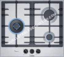 table de cuisson BOSCH Serie 6 PCC6A5B90  Table de cuisson au gaz   plaques de cuisson  Niche  largeur  56 cm  profondeur  48 cm  acier inoxydable  acier inoxydable