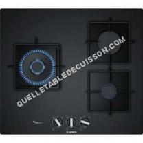 table de cuisson BOSCH Serie 6 PPC6A6B10  Table de cuisson au gaz  3 plaques de cuisson  Niche  largeur : 56 cm  profondeur : 48 cm  noir   cadre  noir