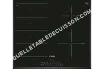 table de cuisson BOSCH Serie 6 PXE651FC1E  Table de cuisson à induction   plaques de cuisson  Niche  largeur  56 cm  profondeur   cm  noir  avec côtés biseautés,  avec avant biseauté  noir