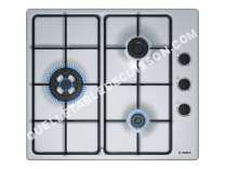 table de cuisson BOSCH Serie 2 PBC6B5B80  Table de cuisson au gaz  3 plaques de cuisson  Niche  largeur : 56 cm  profondeur : 48 cm  acier inoxydable   cadre  acier inoxydable