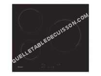 table de cuisson CANDY CH63CC/1  Vitrocéramique  3 plaques de cuisson  Niche  largeur  56 cm  profondeur   cm  noir  avec bord droit