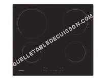 table de cuisson CANDY CH6CCB  Vitrocéramique   plaques de cuisson  Niche  largeur  56 cm  profondeur   cm  noir  avec bord droit