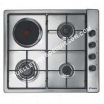 table de cuisson CANDY PLine CLG 631 S PX  Table de cuisson gaz et électrique   plaques de cuisson  Niche  largeur  56 cm  profondeur   cm  acier inoxydable