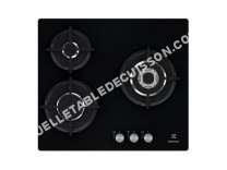 table de cuisson ELECTROLUX EGT66NOK  Table de cuisson au gaz   plaques de cuisson  Niche  largeur  56 cm  profondeur  48 cm  noir  noir
