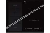 table de cuisson ELECTROLUX Ehx655f2k  Table De Cuisson À Induction   Plaques De Cuisson  Niche  Largeur  56 Cm  Profondeur   Cm  Noir  Avec Avant Biseauté