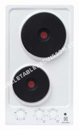 table de cuisson ELECTROLUX EHS390HOW  Table de cuisson électrique   plaques de cuisson  Niche  largeur   cm  profondeur  49 cm  blanc