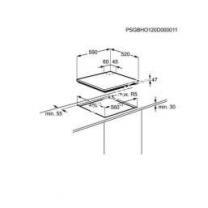 table de cuisson ELECTROLUX EGT632YOX  Table de cuisson au gaz   plaques de cuisson  Niche  largeur  56 cm  profondeur   cm  acier inoxydable