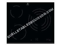 table de cuisson ELECTROLUX EHV622FOK  Vitrocéramique   plaques de cuisson  Niche  largeur  56 cm  profondeur  49 cm  noir  avec avant biseauté  noir