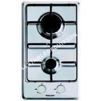table de cuisson GLEM Gas  GT32W  Table de cuisson au gaz  2 plaques de cuisson  Niche  largeur : 26.5 cm  profondeur : 48 cm   cadre  blanc