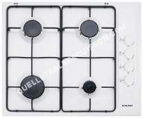 table de cuisson GLEM Gas  GTL4VWH  Table de cuisson au gaz  4 plaques de cuisson  Niche  largeur   cm  profondeur  48 cm  blanc