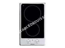 table de cuisson GLEM Gas  GTH3KIX  Vitrocéramique   plaques de cuisson  Niche  largeur   cm  profondeur  49 cm  noir  avec garnitures en acier inoxydable