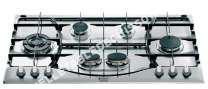 table de cuisson HOTPOINT-ARISTON PHN 92 TS/IX/HA  Table de cuisson au gaz   plaques de cuisson  Niche  largeur  83.5 cm  profondeur  7.5 cm  acier inoxydable  acier inoxydable