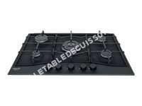 table de cuisson HOTPOINT-ARISTON New Style PCN72THABK  Table de cuisson au gaz   plaques de cuisson  Nice  largeur   cm  profondeur  47 cm  noir  noir