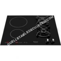 table de cuisson HOTPOINT-ARISTON Luce Glass KIM640C  Table de cuisson mixte induction et gaz  4 plaques de cuisson  Niche  largeur : 56 cm  profondeur : 49 cm  noir   cadre  noir