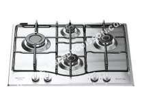 table de cuisson HOTPOINT-ARISTON PCN 62 IX/HA  Table de cuisson au gaz   plaques de cuisson  Niche  largeur  55.5 cm  profondeur  7.5 cm  argent  avec cadre biseauté  acier inoxydable