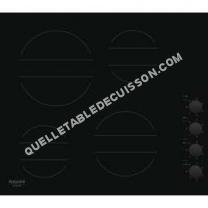 table de cuisson HOTPOINT-ARISTON HR 63 C CM  Vitrocéramique   plaques de cuisson  Niche  largeur  56 cm  profondeur   cm  noir  noir