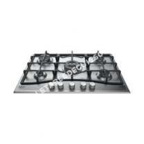 table de cuisson HOTPOINT-ARISTON PNN 71 IX  Table de cuisson gaz   foyers  10,kW  L7  P1cm  Revêtement ino  Ino
