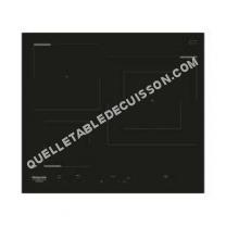 table de cuisson HOTPOINT-ARISTON HKID 630 LD C  Table de cuisson induction  3 zones  7000 W  L 58   51 cm  Revetement verre  Noir