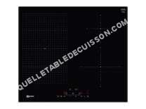 table de cuisson NEFF T56UD50X0  Table de cuisson  induction   plaques de cuisson  Niche  largeur  56 cm  profondeur   cm  noir  avec côtés biseautés