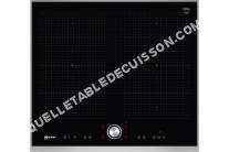 table de cuisson NEFF T66TT60N0  Table de cuisson  induction   plaques de cuisson  Niche  largeur  56 cm  profondeur   cm  noir  avec garnitures en acier inoxydable,  avec bord  facettes