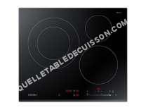 table de cuisson SAMSUNG NZ6K5727BK  Vitrocéramique   plaques de cuisson  Niche  largeur  56 cm  profondeur  49 cm  noir  avec avant biseauté