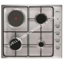 table de cuisson SAUTER  Plaque mixte gaz électrique SPE4464MX