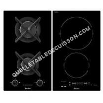 table de cuisson SAUTER SPI65MB  Table de cuisson mixte induction et gaz   plaques de cuisson  profondeur   cm  noir