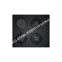 table de cuisson SIEMENS iQ100 EO6B6YB10  Table de cuisson gaz et électrique  4 plaques de cuisson  Niche  largeur : 56 cm  profondeur : 48 cm  noir   cadre  noir