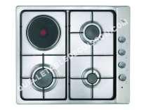 table de cuisson TEKA _Easy E/60.3 3G 1P AL  Table de cuisson gaz et électrique  4 plaques de cuisson  Niche  largeur : 57 cm  profondeur : 48 cm  acier inoxydable   cadre  acier inoxydable