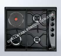 table de cuisson WHIRLPOOL AKM261NB  Table de cuisson gaz et électrique   plaques de cuisson  Niche  largeur  56 cm  profondeur   cm  noir