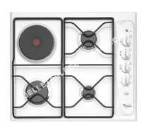 table de cuisson WHIRLPOOL AKM261WH  Table de cuisson gaz et électrique   plaques de cuisson  Niche  largeur  56 cm  profondeur   cm  blanc