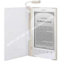 tablette SONY ebook housse blanche+lpe prst2
