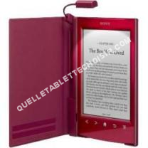 tablette SONY ebook housse rouge+lpe prst2