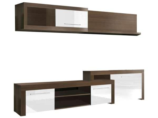 meuble tv electra blanc conforama. Black Bedroom Furniture Sets. Home Design Ideas