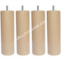 lit AUCUNE Jeu de pieds cylindriques en bois Ø 6,2 cm   2,5 cm  Lot de