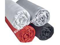 lit CONFORAMA  Drap housse 160X200 SATINA coloris gris