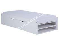 Conforama lit 90x190 cm william coloris bla nouveautes moins cher