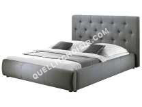 lit CONFORAMA Lit adulte 160x200 cm CLARISSA COFFRE coloris gris
