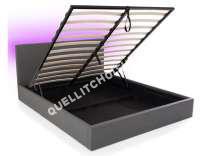 Lit Conforama Lit Coffre 160x200 Cm Avec Led Steva Light