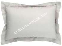 lit CONFORAMA  Taie d'oreiller 50x70 cm PERLA coloris gris clair