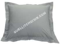 lit CONFORAMA  Taie d'oreiller 63x63 cm PERLA coloris gris clair