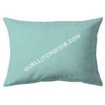 lit COTE DECO  Taie d'oreiller 100% percale de coton - 50x70 cm - Bleu céladon