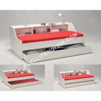 lit Quaidesaffaires Lit avec rangements  tiroir Coloris blanc 90x190 cm BLANCA