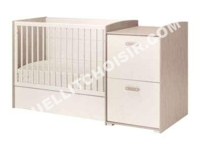 lit bebe 60 x 120 cm evolutif lilou beige