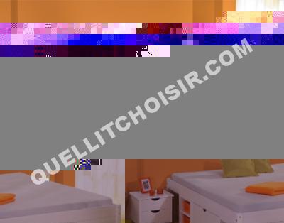 lit multi rangement inca teinte blanc 160 x 200 cm