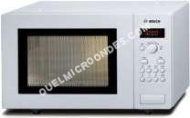 micro-ondes BOSCH HMT75M421  Four microondes monofonction  pose libre  17 litres  800 Watt  blanc