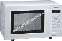 micro-ondes SIEMENS HF15241  Four microondes monofonction  pose libre  17 litres  800 att  blanc