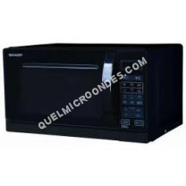 micro-ondes SHARP R742BK  Microondes grill  Noir  25L  900   Grill 1000   Pose libre